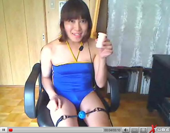 変態女装子マコさんのオナホでオナニー、ザーメンパック
