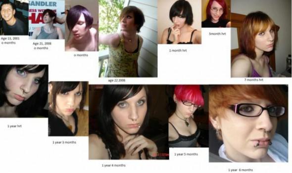 男から女への変身過程