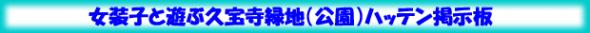 女装子と遊ぶ久宝寺緑地ハッテン掲示板
